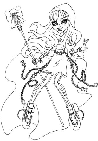 monster high luna mothews coloring pages river styxx coloring page free printable coloring pages