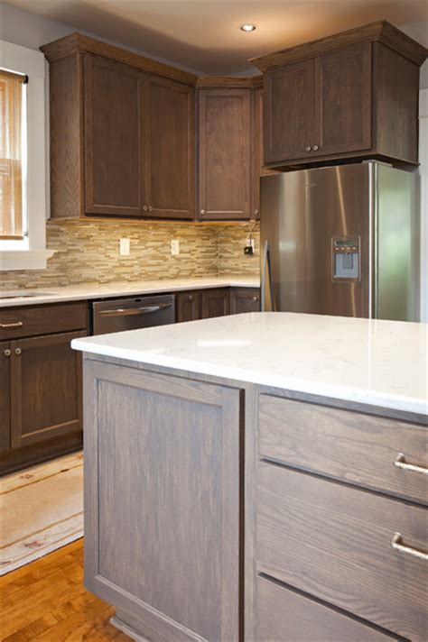Driftwood Color Kitchen Cabinets Driftwood Kitchen Transitional Kitchen Minneapolis By The Cabinet Store