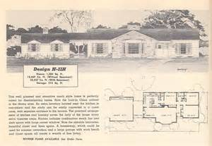 1950s Ranch House Floor Plans Vintage House Plans 11h Antique Alter Ego