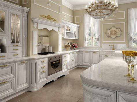 Kitchen Luxury White Majestic Kitchen Ideas With Chandelier And Luxury Kitchen Cabinet