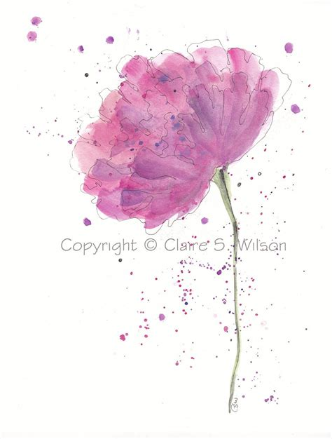 watercolor tattoo peony watercolor peony peony original watercolor 8x10