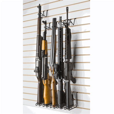 Pegboard Gun Rack by Vertical Peg Slat Wall Rifle Display Rack 2 Set Sku