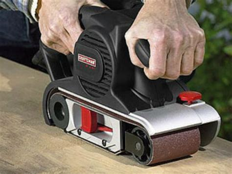 woodworking belt sander how to use a belt sander woodworking tools