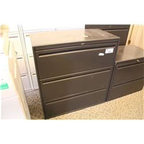 Haworth Lateral File Cabinet Haworth Premise Black 3 Drawer Lateral File Cabinet Able Auctions