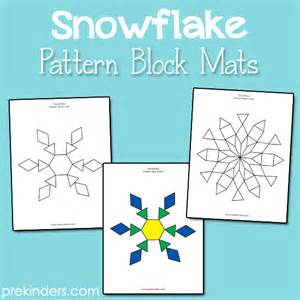 pattern block templates for kindergarten snowflake pattern block mats prekinders