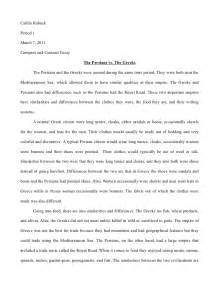 Similarities Essay by Perisan Compare Contrast Essay