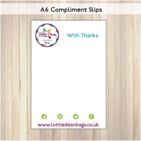 a6 note card template a6 compliment cards thank you notes compliment slips