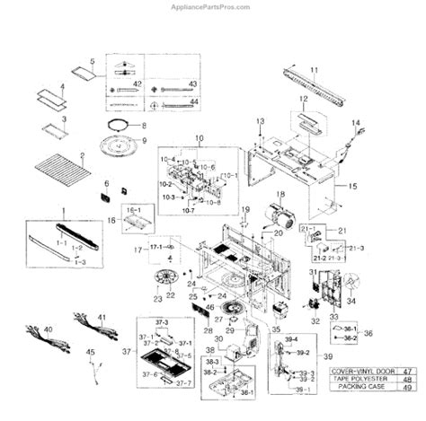 samsung microwave parts diagram parts for samsung smh9207st xaa 0001 built in microwave