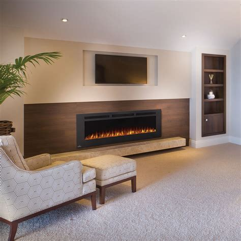 electric in wall fireplace phantom 60 quot nefl60fh mt wall mount electric fireplace napoleon