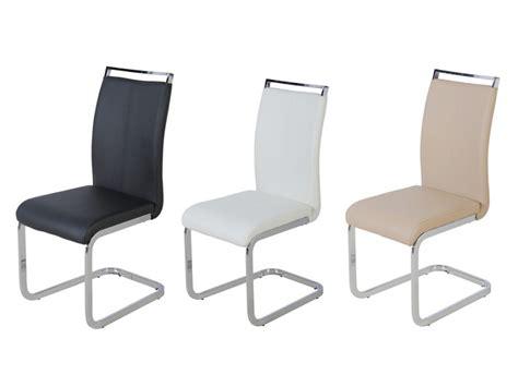 lot de chaises lot de 4 chaises en simili noir blanc ou beige