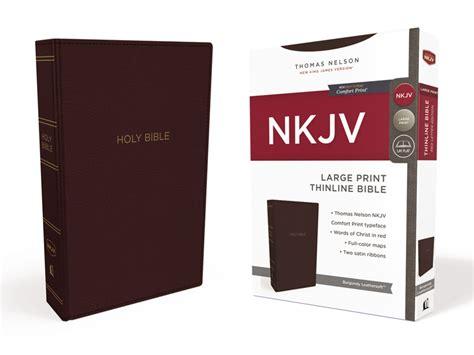 nkjv thinline bible large print imitation leather