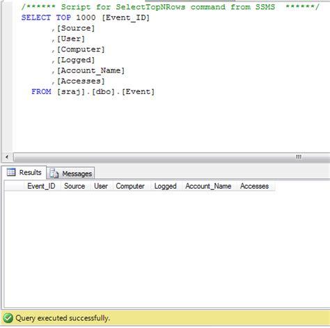 format file sql server can you insert into sql server from evtx file event