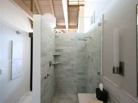 bathroom doorless walk in bathroom shower design ideas