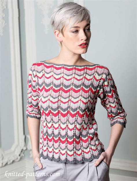 knit pattern boatneck sweater new heatwave by sublime free knitting pattern chevron
