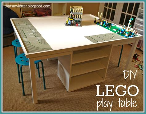Lego Building Table that s letter diy lego play table