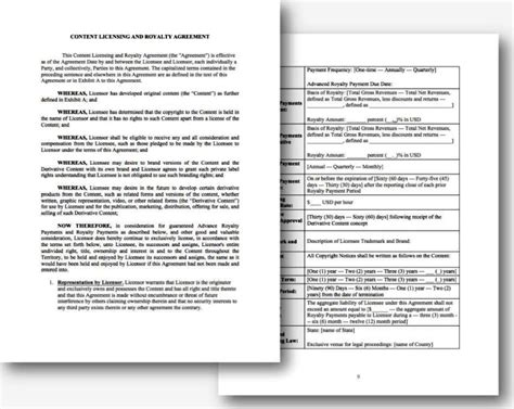 royalty free license agreement template sletemplatess