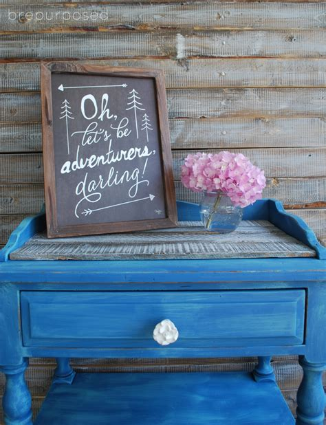 table transformation with custom blue chalk paint the thinking closet