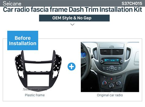 car stereo radio fascia dash panel cover trim for citroen mitsubishi asx peugeot ebay for chevrolet trax 2014 car radio frame fascia panel cover trim dash bezel kit ebay