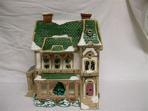 Vintage Christmas Snow Village Lighted House By Lighted Villages