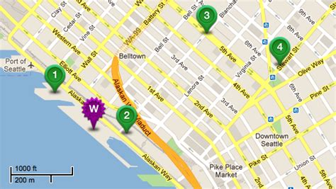 seattle hotels map downtown nirosha pejman