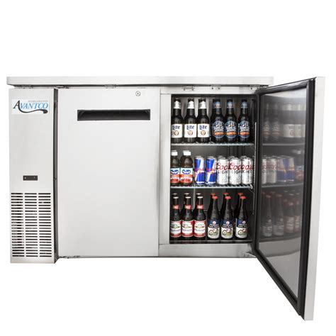 Bar With Refrigerator by Avantco Ubb 48 Hc S 48 Quot Stainless Steel Narrow Solid Door
