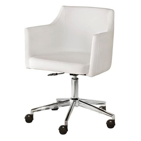 white desk chairs baraga home office swivel desk chair white signature