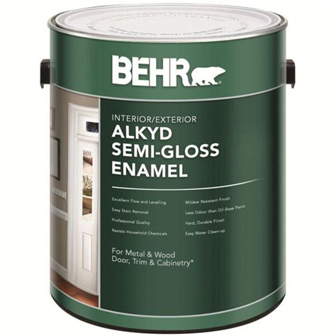 exterior primer and paint in one behr behr interior exterior alkyd semi gloss enamel paint