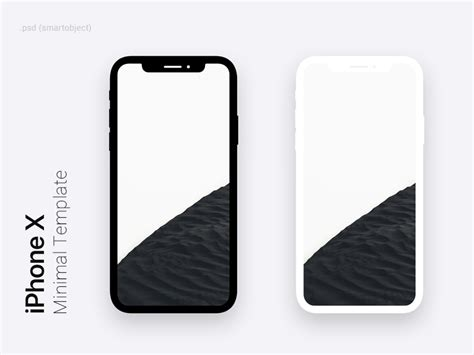 Iphone X Minimal Dark Light Template For Photoshop By Syed Hameed Dribbble Dribbble Iphone Psd Template Free