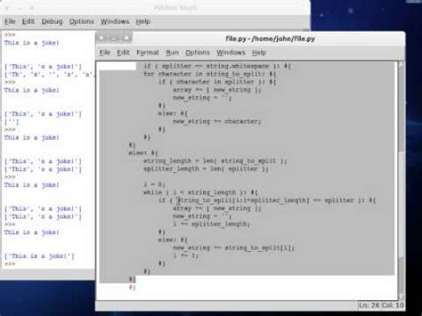 tutorial python split splitting and joining strings in python lynda com tut