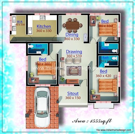 Small Bedroom Designs India Low Cost Low Cost Design Idea For A 1960 Sq Ft Single Floor Home