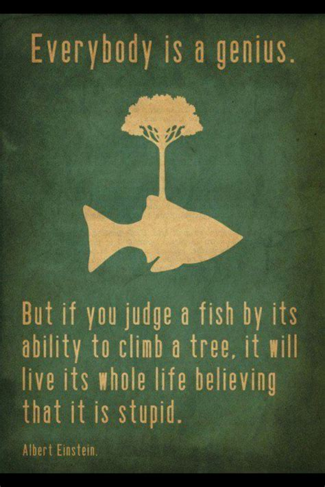 would you teach a fish to climb a tree a different take on with add adhd ocd and autism books everybody is a genius on