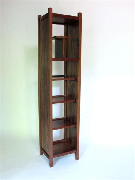 narrow walnut bookcase narrow media cabinet wood