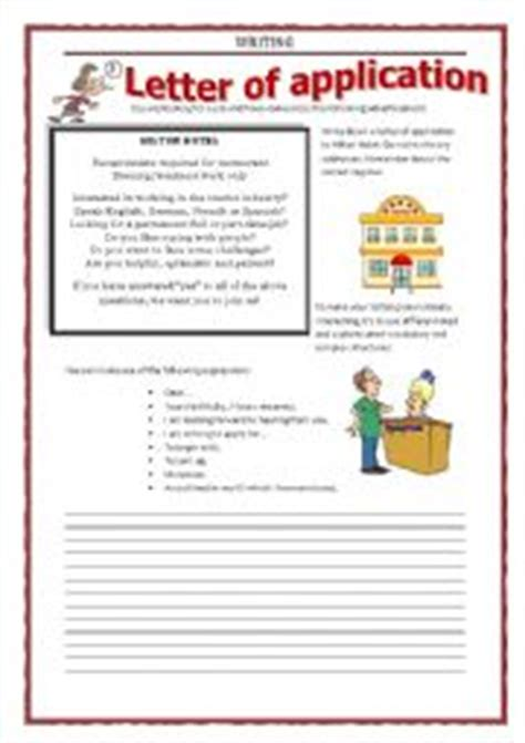 application letter exercises worksheets writing letter of application