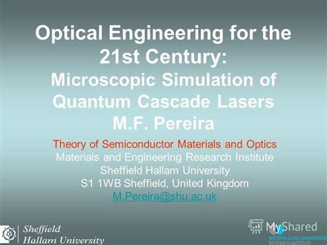 pattern engineering for the 21st century презентация на тему quot optical engineering for the 21st