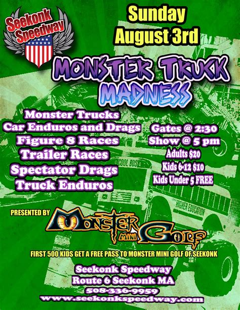 monster truck show schedule 2014 get free monster mini golf tickets at monster truck show