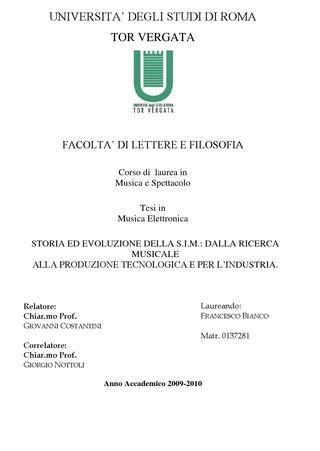 laurea lettere e filosofia tesi di laurea di francesco bianco by federazione cemat