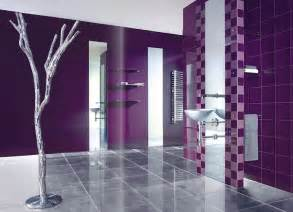 purple colour tiles design and white bathroom traditional