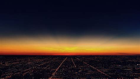 mg night sky flying sunset city papersco
