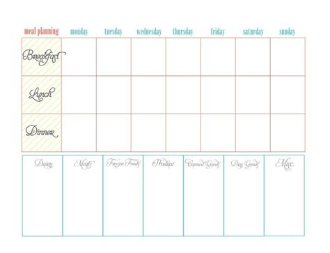 40 weekly meal planning templates template lab