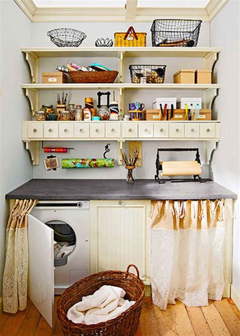 briliant small laundry room storage solutions