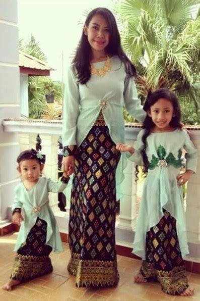 referensi model baju muslim songket mulai  style