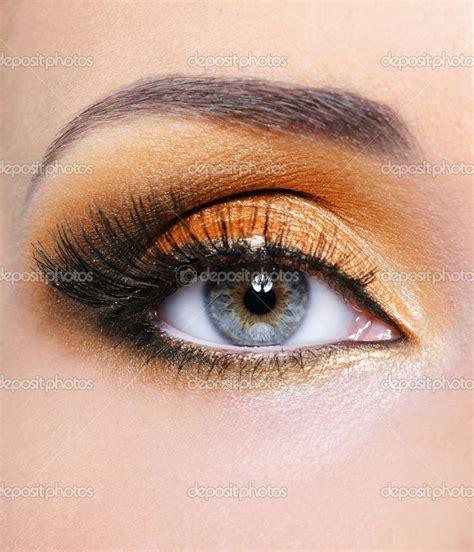 Eyeshadow Orange orange eye makeup for blue eye shadow