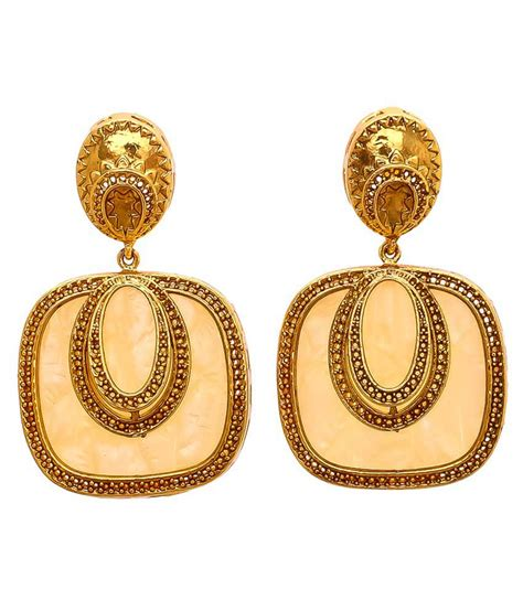 gold bead earrings evershine jewellers gold and golden designer coloured bead