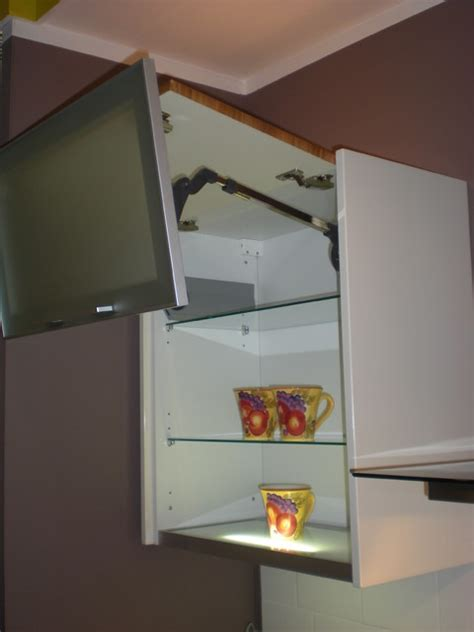 Kitchen Drawer Mechanism top cabinet with vertical lift mechanism modern kitchen toronto by svea kitchens