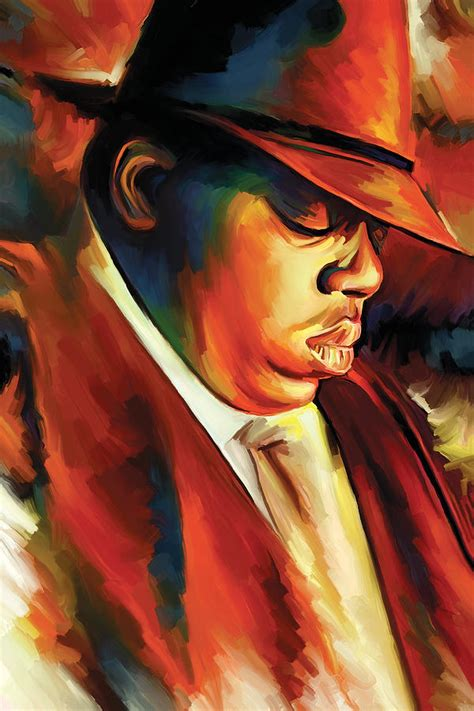 Duvet Black Notorious Big Biggie Smalls Artwork Painting By Sheraz A