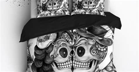 Skull And Bones Bedding Set Pencil Sketch Sugar Skull Bedding Duvet Bedding Bedding Sets And Sugar Skulls