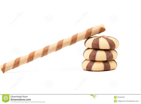 Fullo Wafer Roll striped chocolate wafer rolls and stake biscuits stock