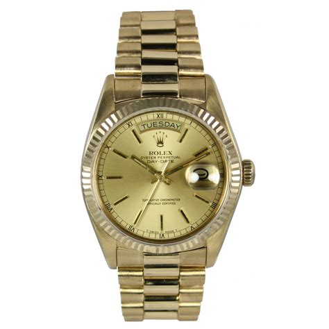 mens pre owned rolex oyster perpetual day date