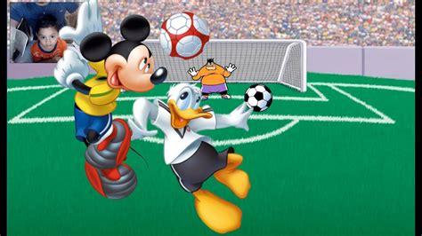 imagenes de niños jugando playstation juego para ni 241 os futbol con mickey mouse y sus amigos