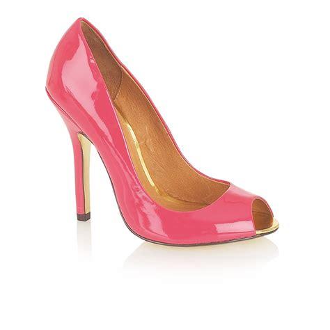 ravel shoes ravel liv peep toe shoes fuchsia patent ravel from ravel uk
